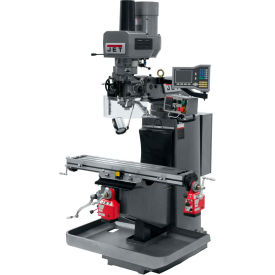 JET JTM-949EVS Mill - 3-Axis Acu-Rite Vue DRO (Knee) - X and Y-Axis Powerfeeds - Air Powered Drawbar