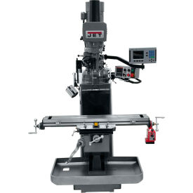 JET JTM-949EVS Mill - 3-Axis Acu-Rite 200S DRO (Knee) - X-Axis Powerfeed - Air Powered Drawbar