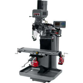 JET JTM-949EVS Mill - 3-Axis Acu-Rite 200S DRO (Knee) - X and Y-Axis Powerfeeds - Air Power Drawbar