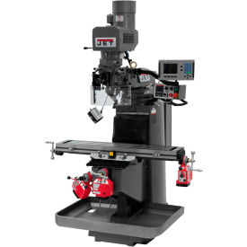 JET JTM-949EVS Mill - 3-Axis Acu-Rite 200S DRO (Knee) - X, Y and Z-Axis Powerfeeds - 698178