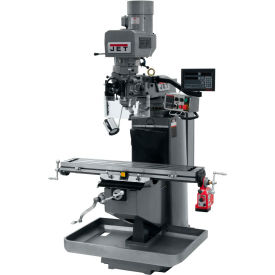JET JTM-949EVS Mill - 3-Axis Newall DP700 DRO (Knee) - X-Axis Powerfeed - 690521