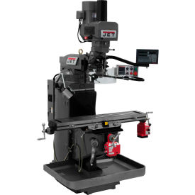 JET JTM-949EVS Mill - 3-Axis Newall DP700 DRO (Knee) - X and Y-Axis Powerfeeds - Air Powered Drawbar