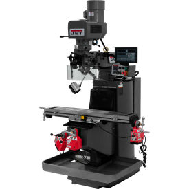 JET JTM-949EVS Mill - 3-Axis Newall DP700 DRO (Knee) - X, Y and Z-Axis Powerfeeds - 690531