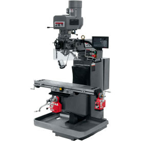 JET JTM-949EVS Mill - 3-Axis Newall DP700 DRO (Quill) - X and Y-Axis Powerfeeds - 698159