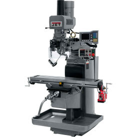 JET JTM-1050EVS2/230 Mill - 3-Axis Acu-Rite Vue DRO (Knee) - X-Axis Powerfeed - Air Powered Drawbar