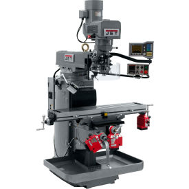 JET JTM-1050EVS2/230 Mill - 3-Axis Acu-Rite Vue DRO (Knee) - X, Y and Z-Axis Powerfeeds - 698163