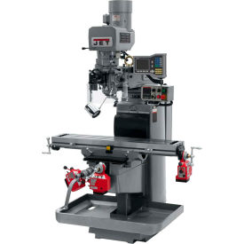 JET JTM-1050EVS2/230 Mill - 3-Axis Acu-Rite Vue DRO (Quill) - X, Y and Z-Axis Powerfeeds - 698145