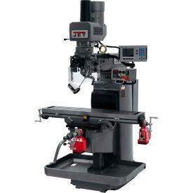 JET JTM-1050EVS2/230 Mill - Acu-Rite 200S DRO - X and Y-Axis Powerfeeds - Air Powered Drawbar
