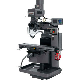 JET JTM-1050EVS2/230 Mill - 3-Axis Acu-Rite 200S DRO (Knee) - X-Axis Powerfeed - 698169