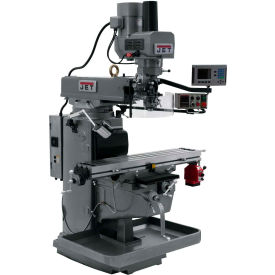 JET JTM-1050EVS2/230 Mill - 3-Axis Acu-Rite 200S DRO (Knee) - X-Axis Powerfeed - Air Powered Drawbar