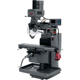 JET JTM-1050EVS2/230 Mill - 3-Axis Acu-Rite 200S DRO (Quill) - X-Axis Powerfeed - Air Power Drawbar