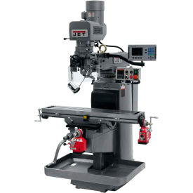 JET JTM-1050EVS2/230 Mill - 3-Axis Acu-Rite 200S DRO (Quill) - X and Y-Axis Powerfeeds - 690543