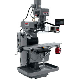 JET JTM-1050EVS2/230 Mill - 3-Axis Newall DP700 DRO (Knee) - X-Axis Powerfeed - 690620