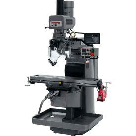 JET JTM-1050EVS2/230 Mill - 3-Axis Newall DP700 DRO (Knee) - X-Axis Powerfeed - Air Powered Drawbar