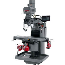 JET JTM-1050EVS2/230 Mill - 3-Axis Newall DP700 DRO (Knee) - X, Y and Z-Axis Powerfeeds - 690533