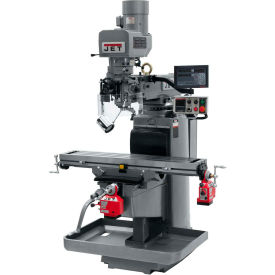 JET JTM-1050EVS2/230 Mill - 3-Axis Newall DP700 DRO (Quill) - X and Y-Axis Powerfeeds - 690640