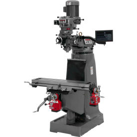 JTM-1 Mill, NEWALL DRO C80 3-axis Quill, X & Y Powerfeed