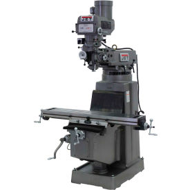 Jet 691208 JTM-1050 Milling Machine W/3-Axis Newall DP700 DRO Quill & X-Axis Powerfeed, 3 HP