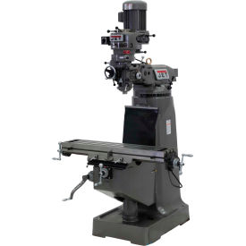 JET JTM-1 Mill - 3-Axis Newall DP500 DRO (Quill) - X and Y-Axis Powerfeeds - 690646