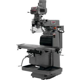 JET JTM-1254VS Mill - Acu-Rite 300S 3X DRO (Knee), X and Y-Axis Powerfeeds - Air Powered Drawbar