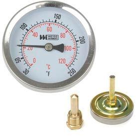 "2 1/2""  dial, 30-250F, 1/2"" NPT rear"