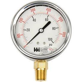 "2 1/2"" dial, liquid filled, 1/4"" NPT bottom, 0-200 PSI"