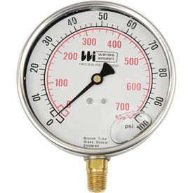 "4"" dial , liquid filled, 1/4"" bottom, 0-30PSI"