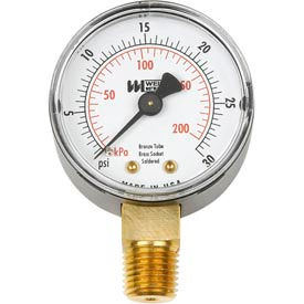 "2"" dial, 1/4"" NPT bottom, 0-160PSI"