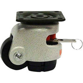 WMI® Built-In Rotation Handle Leveling Caster WMIWR-50PF - 275 Lb. Capacity - Plate Mounted