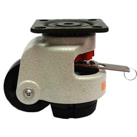 WMI ® Built-In Rotation Handle Leveling Caster WMIWR-72PF - 881 Lb. Capacity - Plate Mounted
