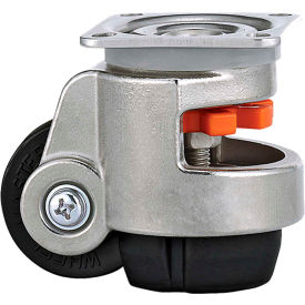 WMI ® Stainless Steel Leveling Caster WMS-40F - 110 Lb. Capacity - Plate Mounted