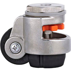 WMI® Stainless Steel Leveling Caster WMS-40S - 110 Lb. Capacity - Stem Mounted