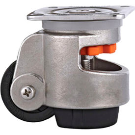 WMI® Stainless Steel Leveling Caster WMS-80F - 880 Lb. Capacity - Plate Mounted