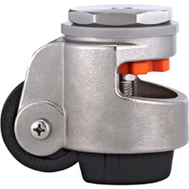 WMI® Stainless Steel Leveling Caster WMS-80S - 880 Lb. Capacity - Stem Mounted