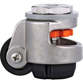 WMI® Stainless Steel Leveling Caster WMSPIN-60S - 550 Lb. Capacity - Stem Mounted