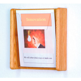 1 Pocket Acrylic & Oak Wall Display - Light Oak