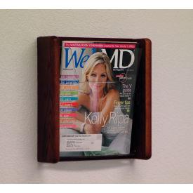 1 Pocket Acrylic & Oak Wall Display - Mahogany