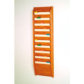 10 Pocket Chart Holder Medium Oak by
