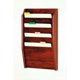 4 Pocket Chart Holder Mahogany by