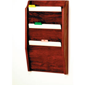3 Pocket Chart Holder Mahogany by