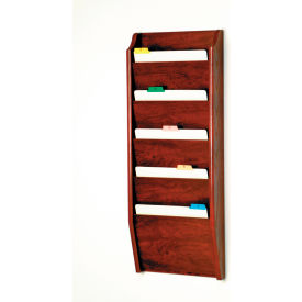 5 Pocket Chart Holder Mahogany by