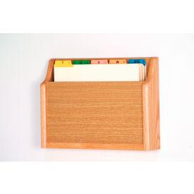 Single Pocket Chart Holder - Light Oak