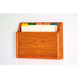 Single Pocket Chart Holder - Medium Oak
