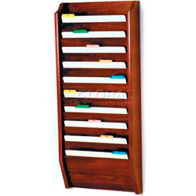 Wooden Mallet 10 Pocket Legal Size File Holder, Mahogany