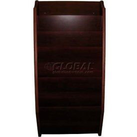 Wooden Mallet 7 Pocket Legal Size File Holder, Mahogany