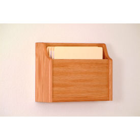 Extra Deep Single Pocket Chart Holder - Light Oak