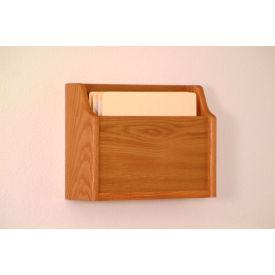 Extra Deep Single Pocket Chart Holder - Medium Oak