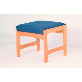 One Person Bench - Light Oak/Earth Water Pattern Fabric
