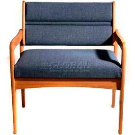 Wooden Mallet Valley Bariatric Guest Chair with Standard Leg, Solid Vinyl, Black/Light Oak