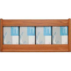Wooden Mallet 4 Pocket Glove/Tissue Box Holder - Rectangle, Medium Oak